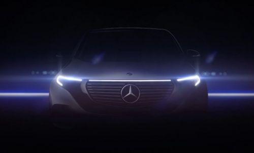 Mercedes-Benz вновь показал фрагмент будущего электрического кроссовера EQC