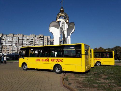 «Богдан» передал партию новых школьных автобусов Богдан А22412 на Волынь