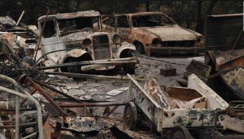 Лесные пожары уничтожили сотни раритетных авто в Калифорнии