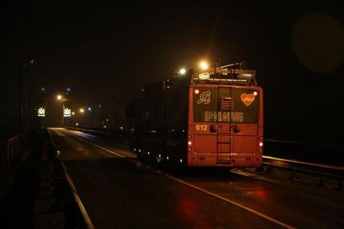 Троллейбус «Богдан» впервые проехал в Кременчуге на автономном ходу