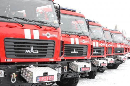 Украинские спасатели получили 41 пожарный автомобиль