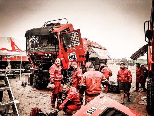 Механики команды «МАЗ-СПОРТавто» совершили трудовой подвиг на Дакаре