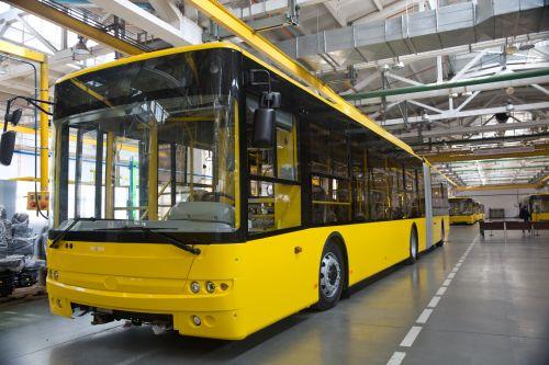 Парк Киева пополнится еще 55 троллейбусами «Богдан»