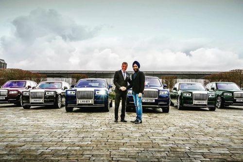 Британский бизнесмен купил сразу шесть Rolls-Royce в различных цветах