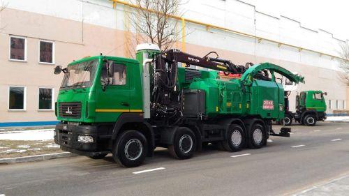 МАЗ представил новую рубильно-дробильную машину