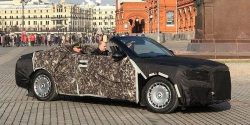 В России испытывают новые церемониальные кабриолеты в замен старых ЗИЛов