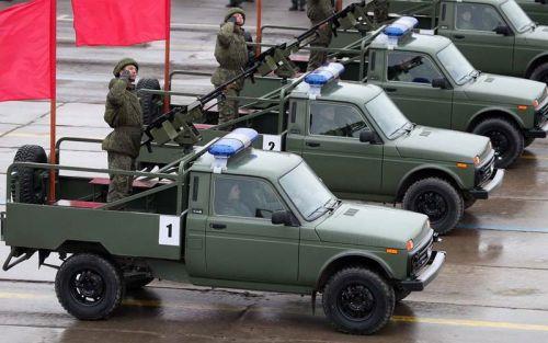 Армия России впервые получила партию военных пикапов Lada
