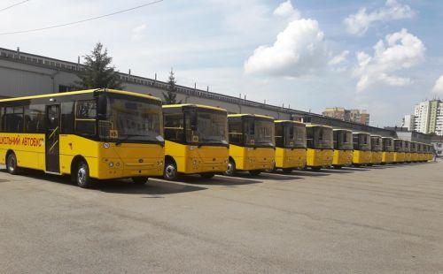 В Житомирскую область началась поставка партии школьных автобусов «Богдан»