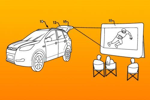 Ford предложил сделать каждый автомобиль передвижным кинотеатром