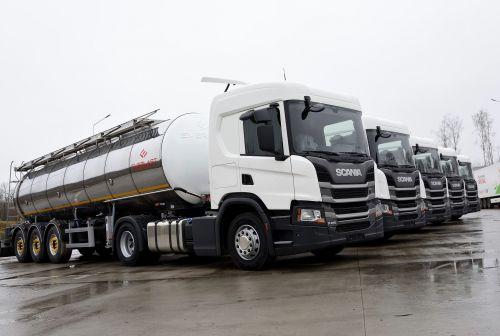 Scania поставила партию молоковозов для украинского производителя