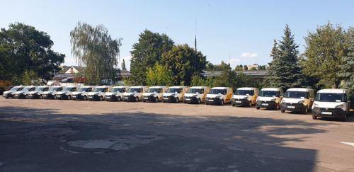 Укрпошта начала получать первые Fiat Doblo из партии в 500 штук
