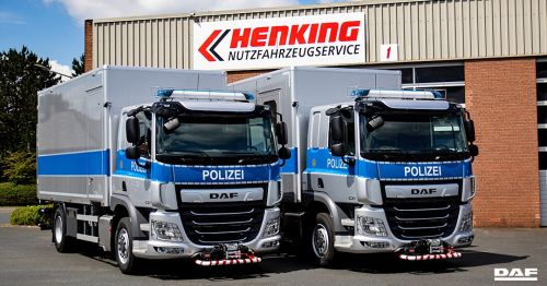 Полиция Германии закупила спецгрузовики DAF CF