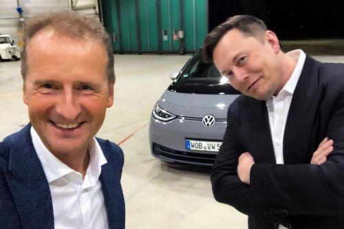 Илон Маск испытал электрокар Volkswagen ID.3