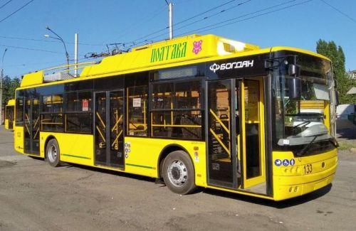 В Полтаве начали курсировать новые троллейбусы Богдан Т70117
