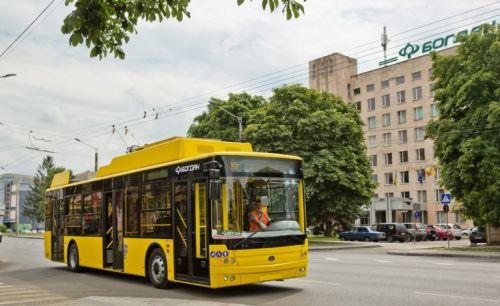 Полтава получила еще одну партию троллейбусов «Богдан»