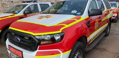 Украинские спасатели получили очередную партию Ford Ranger - спасател