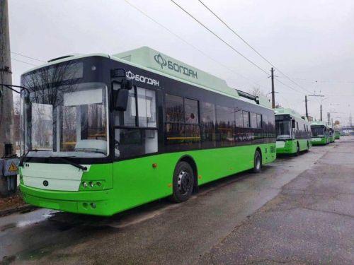 В Харьков уже поставили 5 троллейбусов «Богдан»