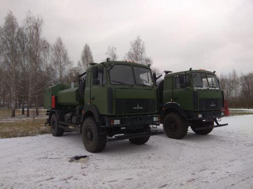 Пограничники закупили два топливозаправщика на базе МАЗ