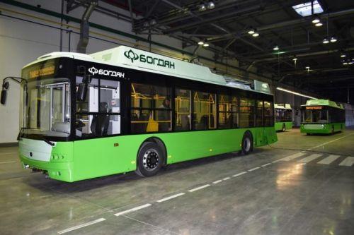 В Харьков поставили очередную партию троллейбусов Богдан Т70117 - Богдан