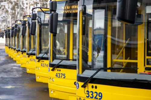 В феврале на маршруты Киева вышли 15 новых троллейбусов Богдан Т90117