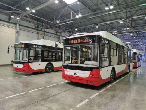 Луцк получил уже 10 новых троллейбусов Богдан Т70117