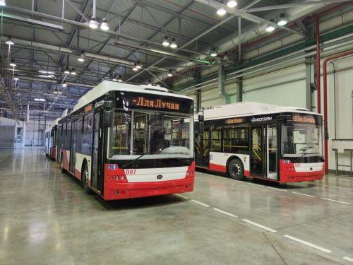 Впервые в Украине в новом троллейбусе Богдан Т70117 установили обеззараживатели воздуха - Богдан