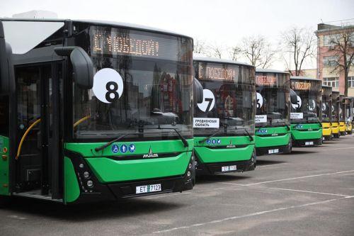 МАЗ поставил первые 10 электробусов для городов Белоруссии