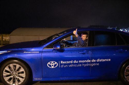 Toyota Mirai установил новый рекорд пробега на водороде