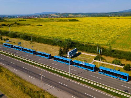 Ужгород получил 7 новых автобусов «Электрон» и закупит еще 10 электробусов - Электрон