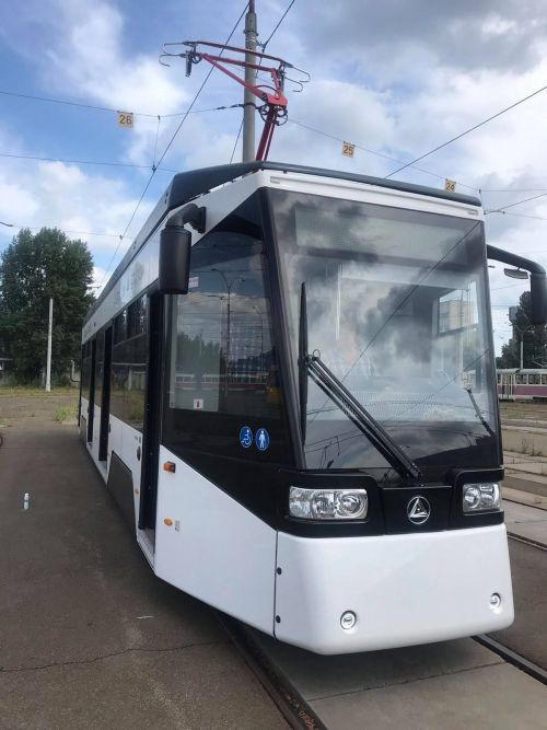 Киевпасстранс проводит испытания первого черниговского трамвая Т3-Эталон