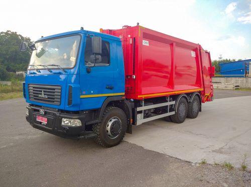 В Украине выпустили новую модель мусоровоза на 22 м3 на шасси МАЗ 6312