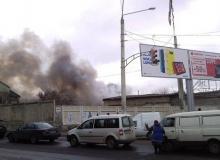 В Одессе сгорело СТО с автомобилями
