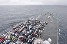 В Северном море утонули 1400 новых Mitsubishi