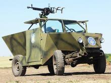 Первый самодельный бронеавтомобиль «Скорпион» отправился в музей - броне