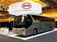 BYD представил первый в мире междугородний электроавтобус