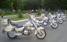 Украинская полиция будет ездить на китайских мотоциклах. Фото - мотоцикл