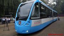 В Виннице выпустили собственный современный трамвай. Фото - трамвай