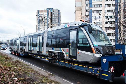Киев получил партию новых трамваев Электрон