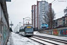 На линию скоростного трамвая в Киеве вышел львовский Электрон. Фото