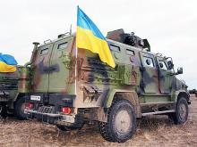 """Украинский бронеавтомобиль """"Козак-2"""" подорвали на мине. Что от него осталось? Фото"""