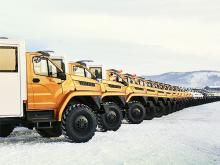 Грузовики «Урал» будут строить газопровод «Сила Сибири». Фото