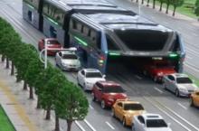 В Китае разработали автобус, которые легко ездит по пробкам