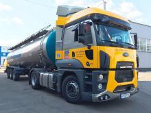 Cедельный тягач Ford Trucks 1848T Евро-6 отправился в тест-драйв по Украине