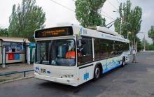 В Мариуполе вышел на линию новый троллейбус производства Южмаша