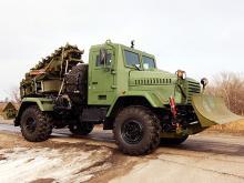 На базе КрАЗа создали бронированную землеройную машину