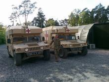 Медицинские HMMWV, переданные США украинской армии, уже на передовой
