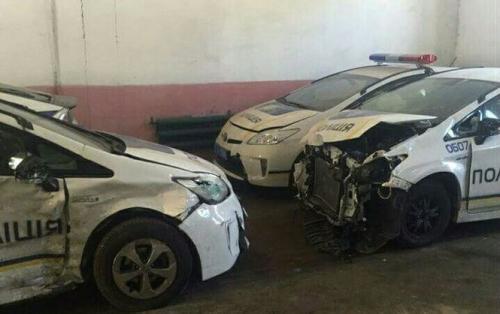 Киевские полицейские уже разбили более половины патрульных автомобилей