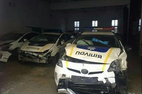 Сколько полицейских авто уже побывало в ДТП - полиц
