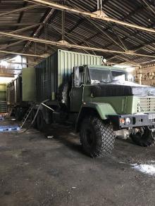В зоне АТО появились банно-постирочные комплексы на базе КрАЗов - КрАЗ