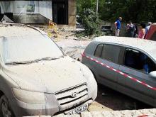 В Киеве произошел прорыв трубы. Повреждены автомобили